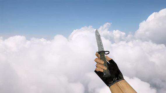 Штык-нож Дамасская сталь
