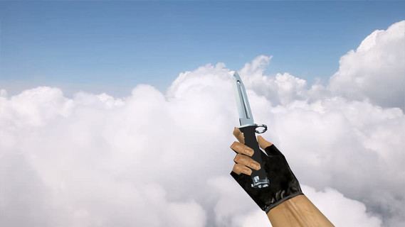 Штык-нож «Серебряный хром»