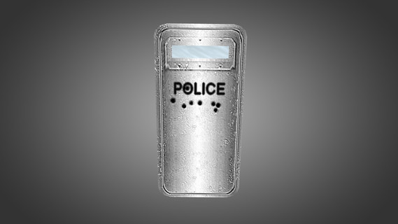 Black and Silver Riot Shields