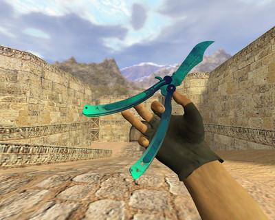 Нож-бабочка Синее море