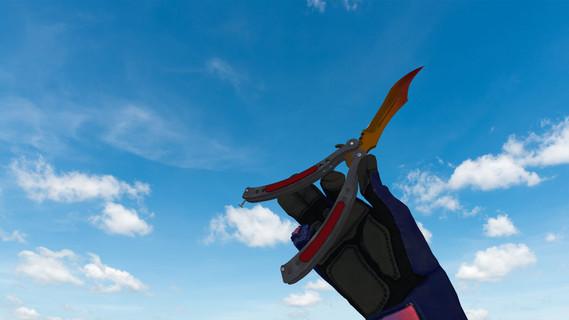 Нож-бабочка Градиент