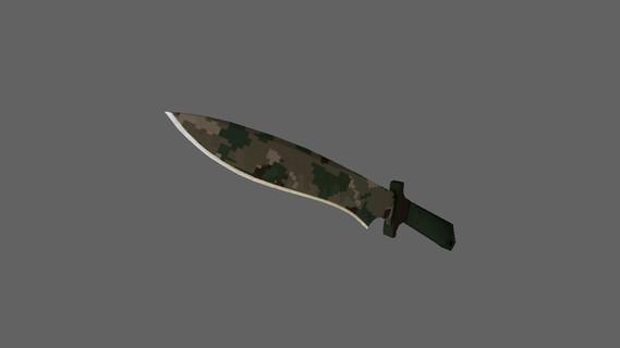 Классический нож | Пиксельный камуфляж «Лес»