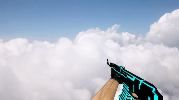 Default AK-47 Blue Lines
