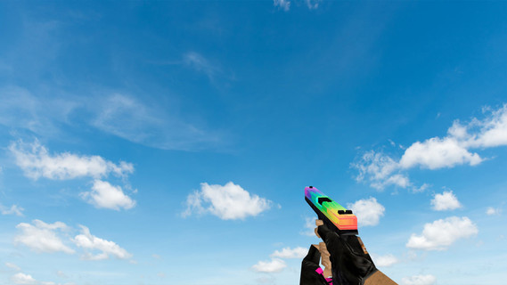 Default Glock Glitchy Rainbow