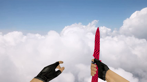 Default Knife Red Black Pewdiepie