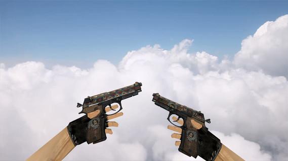 Dual Berettas Tribal Sky