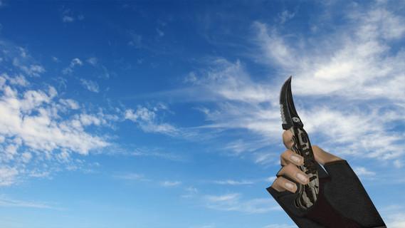 Складной нож «Черный глянец»