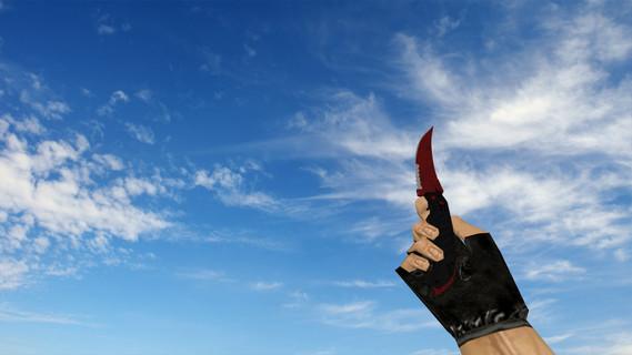Складной нож «Кровавая паутина»