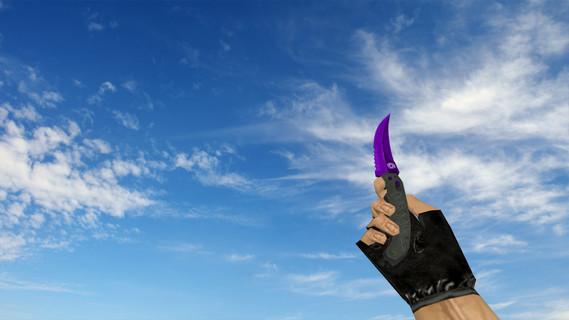 Flip Knife Purple Oil