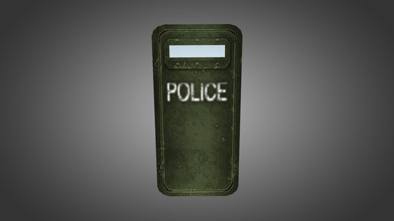 Green Police Shield