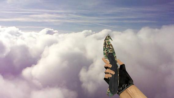 Нож с лезвием-крюком «Северный лес»