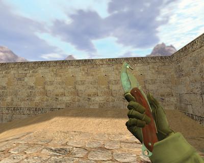 Нож с лезвием-крюком Поверхностная закалка