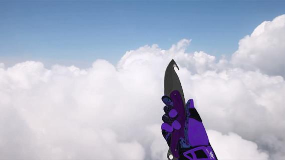 Нож с лезвием-крюком «Ультрафиолет»