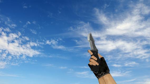 Охотничий нож «Дамасская сталь»