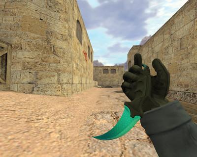 Нож Керамбит Голубой сплав