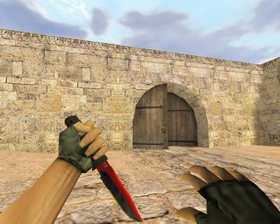 Красно-черный нож