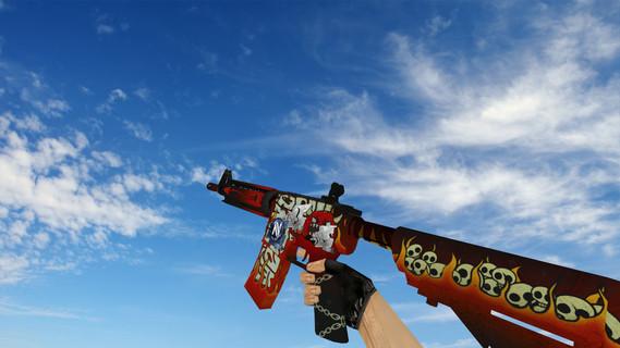 M4A4 «Адское пламя» стикеры