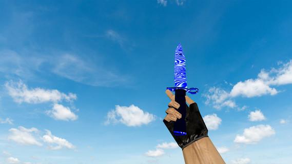 Штык-нож M9 «Дамасская сталь» Blue