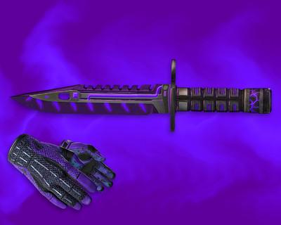 Штык-нож М9 «Лазерный резак» + «Спортивные перчатки | Ящик Пандоры»