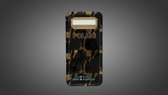Police Camo Carbon Shield