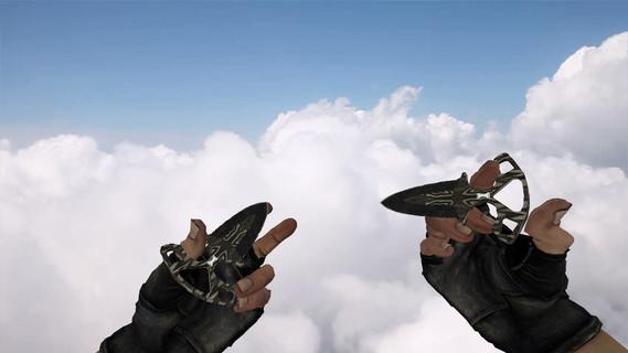 Тычковые ножи «Черный глянец»