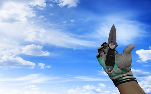 Скелетный нож Вороненая сталь