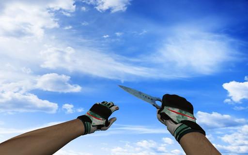 ☆ Скелетный нож | Поверхностная закалка (403 паттерн Blue Gem)