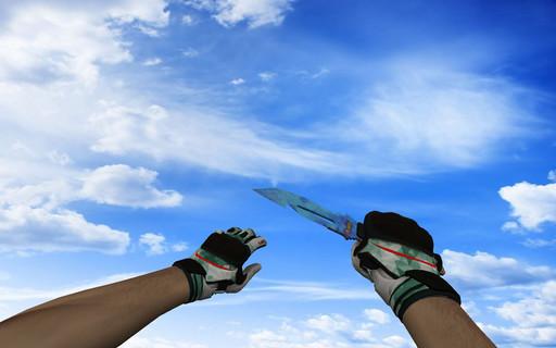 ☆ Нож выживания | Поверхностная закалка (403 паттерн Blue Gem)
